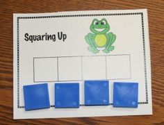 Phonemic Awareness - students move a block for every sylable they hear in a word given orally