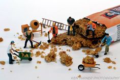 miniature photography - small world and tiny people Crumby Job | Flickr - Photo Sharing!