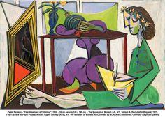 """""""Fille dessinant a l'interieur"""" -Pablo Picasso, 1935"""