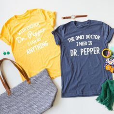 If you love Dr. Pepper you will love these fun Dr. Pepper Tees! These tees are so soft and comfortable, and feature a unisex fit ideal for any fan of the drink!
