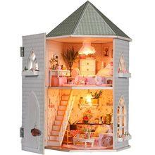 Casa de muñecas en miniatura Diy hechos a mano montaje Kits de edificio modelo de lujo regalo de cumpleaños del Dollhouse amor construidos fuertes especificación(China (Mainland))