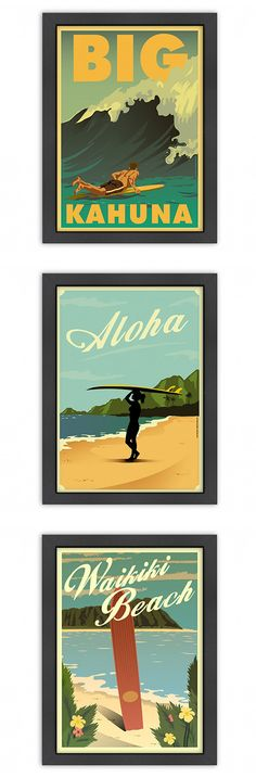 Surf's Up Print - Framed | dotandbo.com