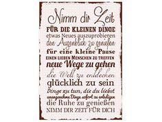 WANDTAFEL Schild NIMM DIR ZEIT ROSE Shabby Vintage Dekoschild Holzschild