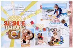 #papercrafting #scrapbook #layout - Sunshine Memories *Fancy Pants Designs* - Scrapbook.com