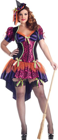 Adult Witch Body Shaper Costume Plus Size - Party City