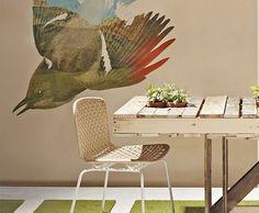 muebles.mesa de jardin hecha con palets