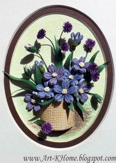 Floral Quilling Art - by: www.Art-KHome.blogspot.com