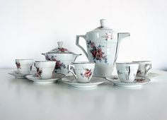 French Antique Limoges Coffee Service SUMMER SALE by OurBoudoir