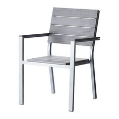 FALSTER Armchair IKEA Stackable. Saves space when stored. Polystyrene slats are weather-resistant and easy to care for.