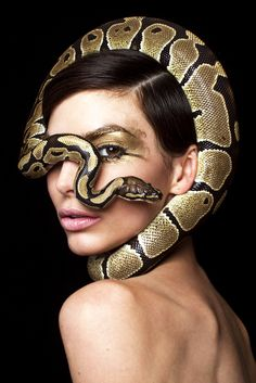 Photographer : David Page - Model : Rachele @ MAJOR & Brad Pitt Snake - Mua : Charlotte Prevel - Hair : Miwa Moroki