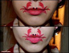 Uhhh, its a crab.on your lips? Cute Halloween, Halloween Face Makeup, Lips Photo, Birthday Makeup, Glitter Lips, Bold Lips, Beautiful Lips, Lip Art, Eye Make Up