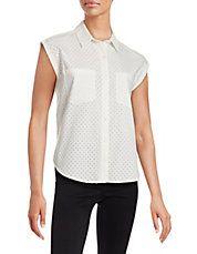 Akiko Perforated Short Sleeve Shirt