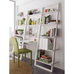 Sloane White Leaning Desk in Desks | Crate and Barrel