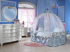 Disney Princess Carriage Bed ...I want this sooooo bad for Sophia!