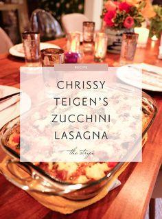 Recipe: Chrissy Teigen's Zucchini Lasagna Bolognese | The Stripe | Bloglovin'