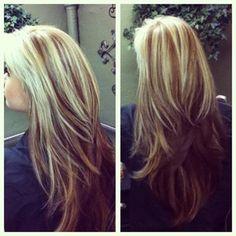 Blonde Top Layer Dark Blonde Bottom Layer
