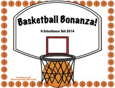 Basketball Bonanza! Two FREE downloads, including basketball vocab sorted by…