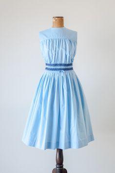 1950s 'Bonny Beau' pastel blue dress by Parfait Originals #vintage #fashion