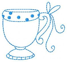 Teacup Bluework
