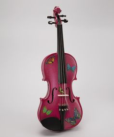 Look at this Fuchsia Glitter Butterfly Dream Violin on #zulily today!