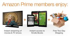 Are you taking advantage of the Free trial for Amazon Prime? Not only do get Free Shipping with Amazon Prime but there are thousands of movies and TV episodes that you can stream through Amazon Instant Video.  Love to read on your eReader?  You can even borrow books from the Kindle Owners' Library.