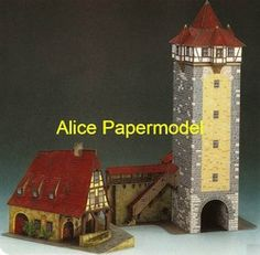 Online Shop [Alice papermodel] 1:100 Europe German Traditional architecture diorama house structure building models|Aliexpress Mobile