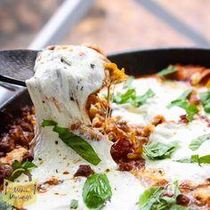 Menu Musings of a Modern American Mom: One Pot Skillet Lasagna