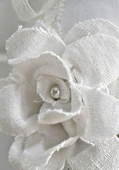 white linen flower