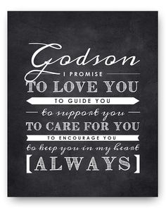 Godson Nursery Art Print, Perfect Christening/Baptism Gift for Godson from Godparents >>> Be sure to check out this awesome product. (This is an affiliate link and I receive a commission for the sales)
