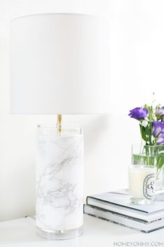 "How to make an expensive-looking ""marble"" lamp"