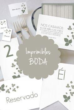 Imprimibles para boda