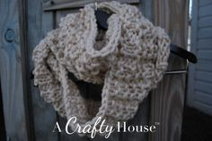 Easy Knit Infinity Scarf Pattern: Mid-December | A Crafty House: Knitting and Crochet Patterns and Crafts  | followpics.co