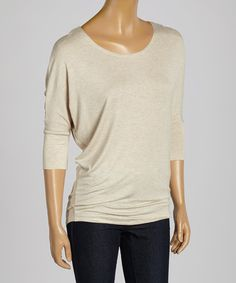 Another great find on #zulily! Beige Dolman Top #zulilyfinds