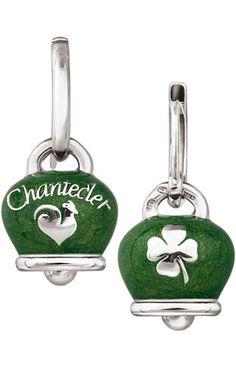 Chantecler Capri - Et Voilà Silver earrings with bells with pearly green enamel. #ChanteclerCapri #EtVoilà #earrings