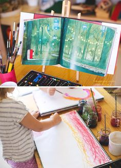 Little Artists Drawing and Painting Book Prompts for Creative Learning: Love this trio of ideas!