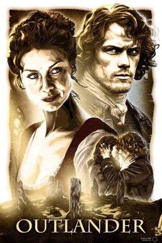 Voyager Outlander, Outlander Fan Art, Outlander Season 3, Outlander Tv Series, Sam Heughan Outlander, Diana Gabaldon Books, Jamie And Claire, Claire Fraser, Jamie Fraser