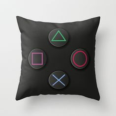 Play Station pillow AKA the best pillow in existence. Boys Game Room, Boy Room, Kids Room, Diy Pillows, Throw Pillows, Best Pillows For Sleeping, Deco Gamer, Video Game Rooms, Video Game Bedroom