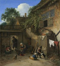 Adriaen van Ostade - The Cottage Dooryard