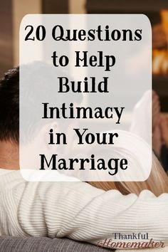 20 Questions to Help Build Intimacy in Your Marriage - Intimacy in marriage - Casamento Ideias Intimacy In Marriage, Marriage Help, Marriage Goals, Healthy Marriage, Strong Marriage, Successful Marriage, Marriage Relationship, Happy Marriage, Marriage Advice