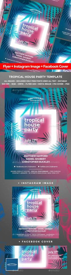 Tropical Summer Flyer - Clubs & Parties Events
