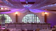 wedding ceiling draping