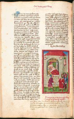 Illuminated Manuscript, Bed, German, Stream Bed, Beds, Bedding