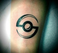 Pokeball black tattoo