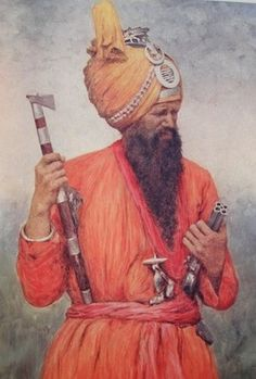 size: Giclee Print: 'A Retainer from Jind', 1903 by Mortimer L Menpes : Sikhism Beliefs, Sikhism Religion, Jaisalmer, Udaipur, Exotic Art, History Of India, Black History Facts, Mahatma Gandhi, Varanasi