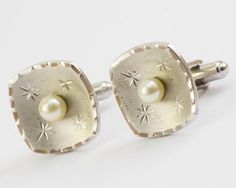 Vintage Cufflinks Pearls and Star Bursts on by CuffsandClips, $35.20