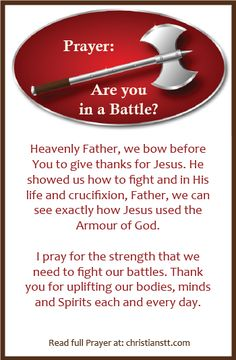 Prayer: Are you in a Battle? Spiritual Warfare