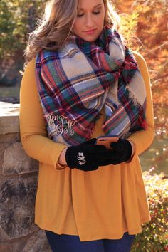 Blanket Scarves and gloves   Initial Outfitters