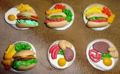 My Activities Board: Polymer clay food fridge magnets