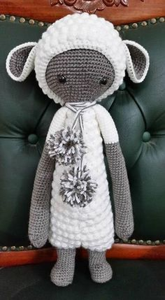 LUPO the lamb made by Rivka / crochet pattern by lalylala