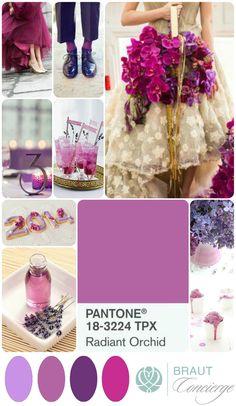 Radiant Orchid Wedding Moodboard I Braut Concierge Veranstaltungsmanufaktur www.Braut-Concierge.de #Hochzeitsplaner